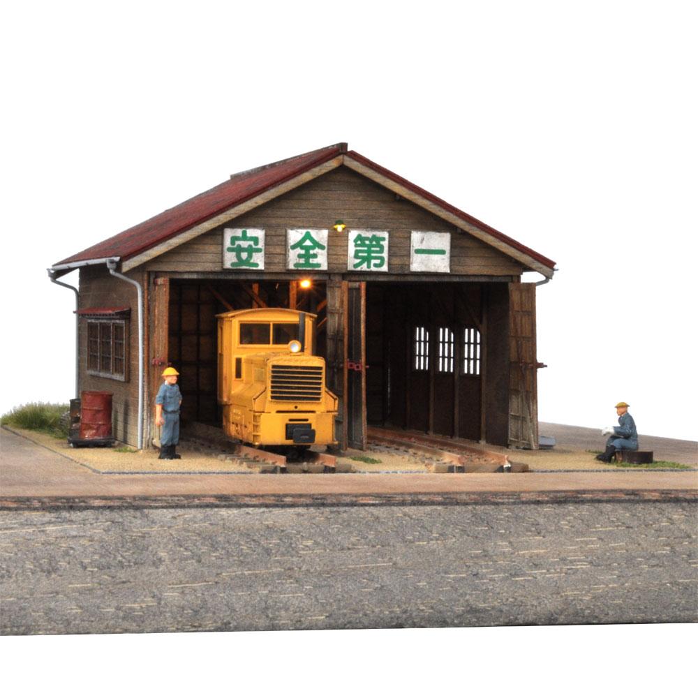 助六の2線機関庫 :伊藤敏男 塗装済完成品 1/87