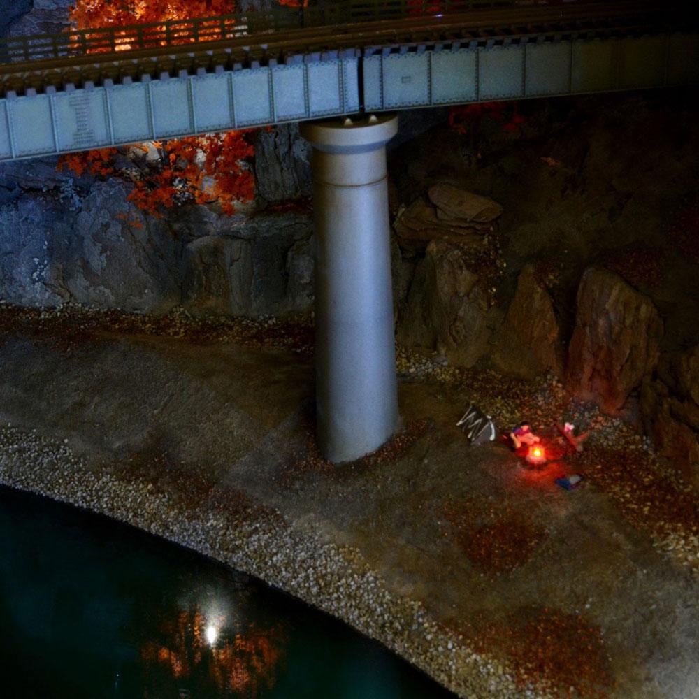 秋の渓谷モジュール :伊藤一卓 塗装済完成品 1/150スケール