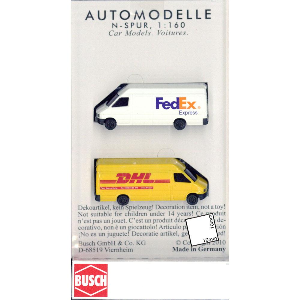メルセデス ベンツ スプリンター(商用車) FedEx DHL 2台セット :ブッシュ 塗装済完成品 N(1/160) 8304