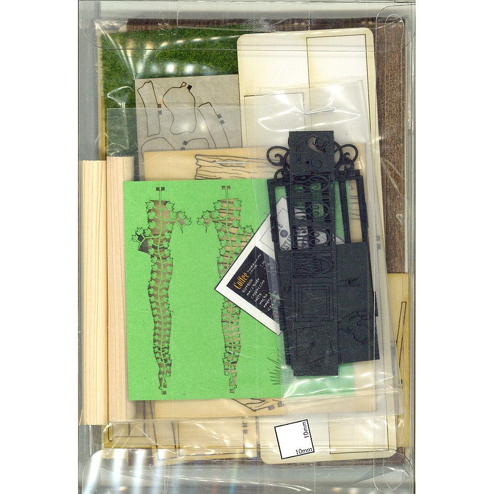 カフェエントランス ジオラマセット :コバーニ 未塗装キット 1/24 ss-001