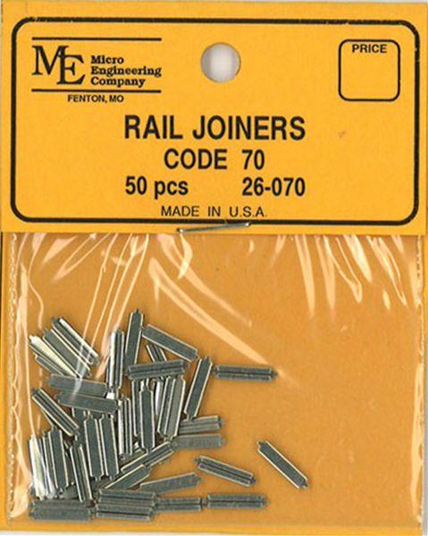レールジョイナー コード70番用 50個入り :マイクロエンジニアリング 鉄道 素材 26-070