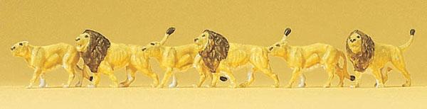 ライオン6頭 :プライザー 塗装済完成品 N(1/160) 79713