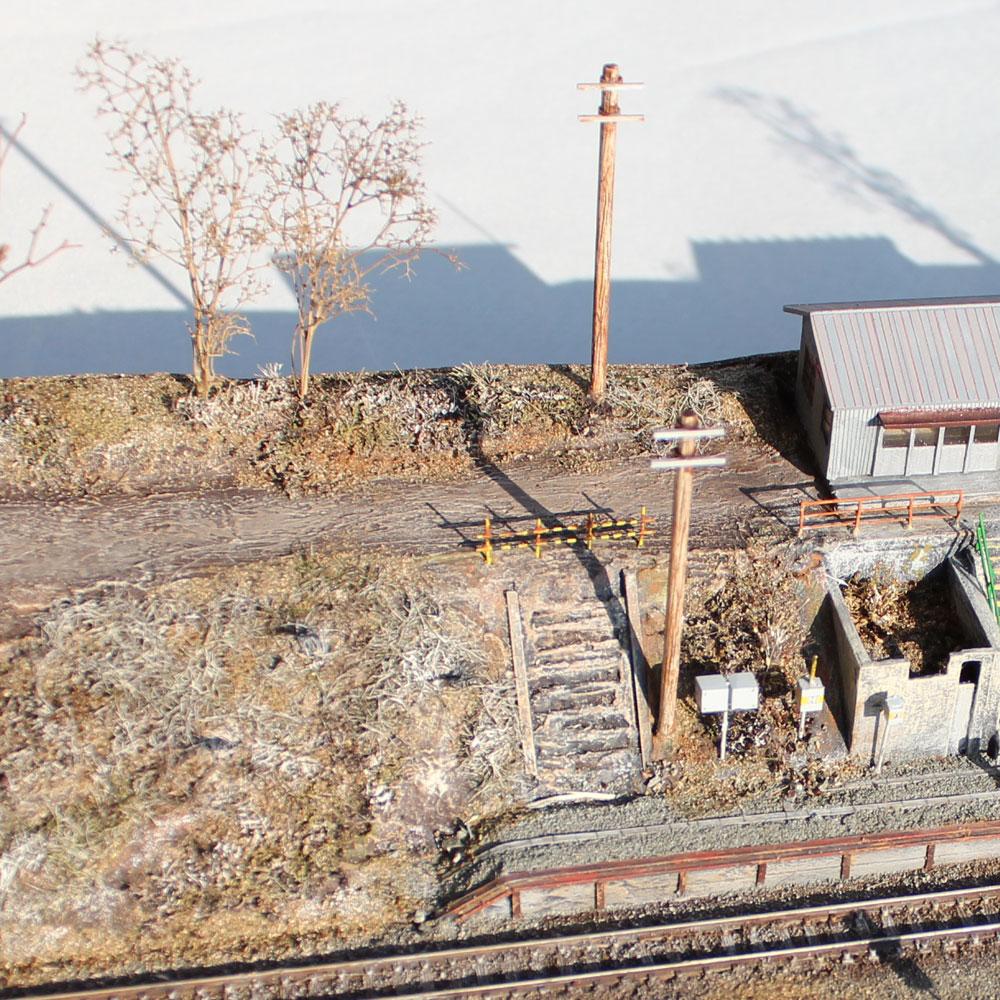 函館本線 姫川駅 :立川伸 塗装済完成品 N(1/150)