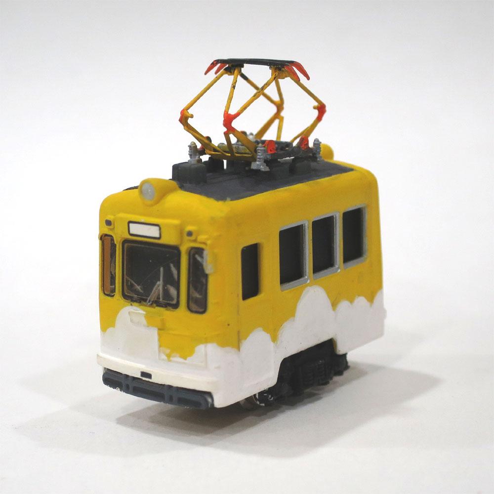電池内蔵自走式 ミニミニトレイン <黄雲> パンタグラフ仕様 :石川宜明 塗装済完成品 N(1/150)