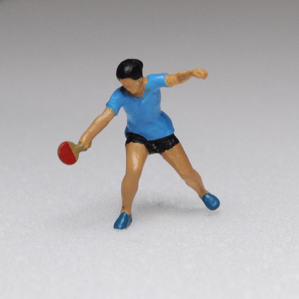 アスリート人形 卓球 レシーブA :さかつう 3Dプリント 完成品 HO(1/87) 213