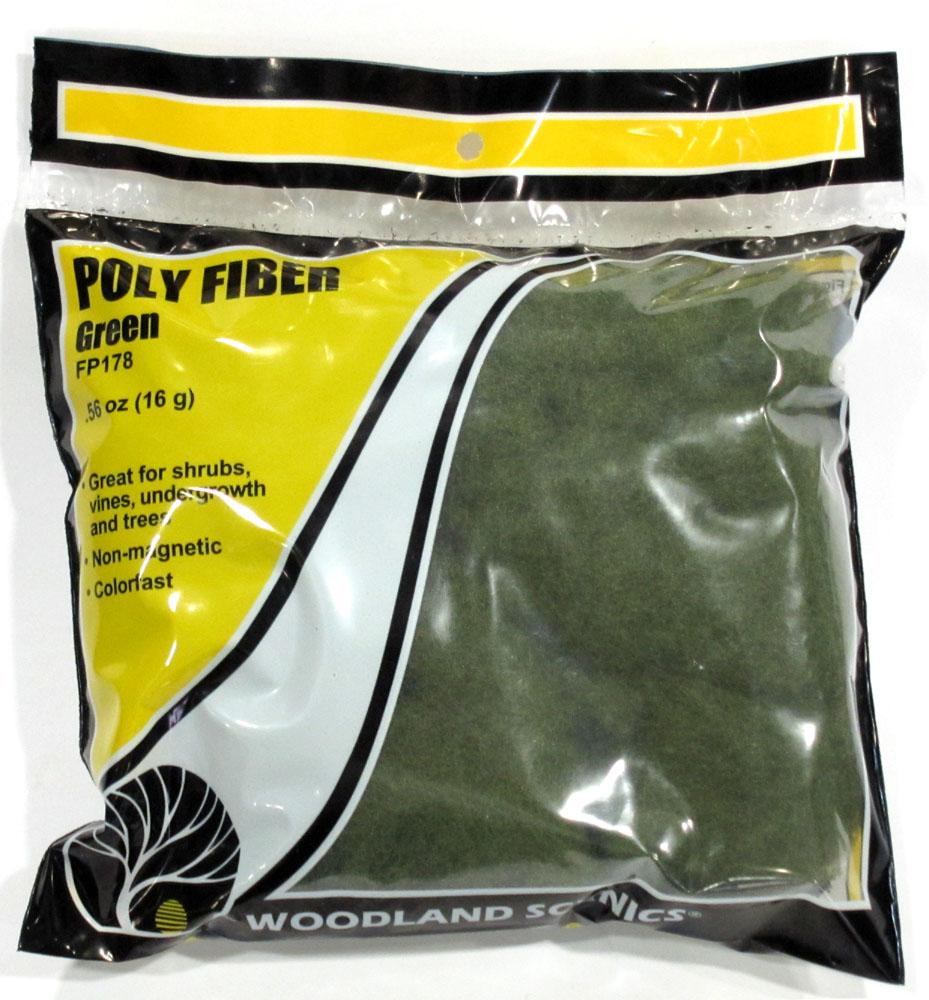 化学繊維素材 【ポリファイバー】 グリーン(枝、草の芯に) :ウッドランド 樹木、草用素材 ノンスケール FP178