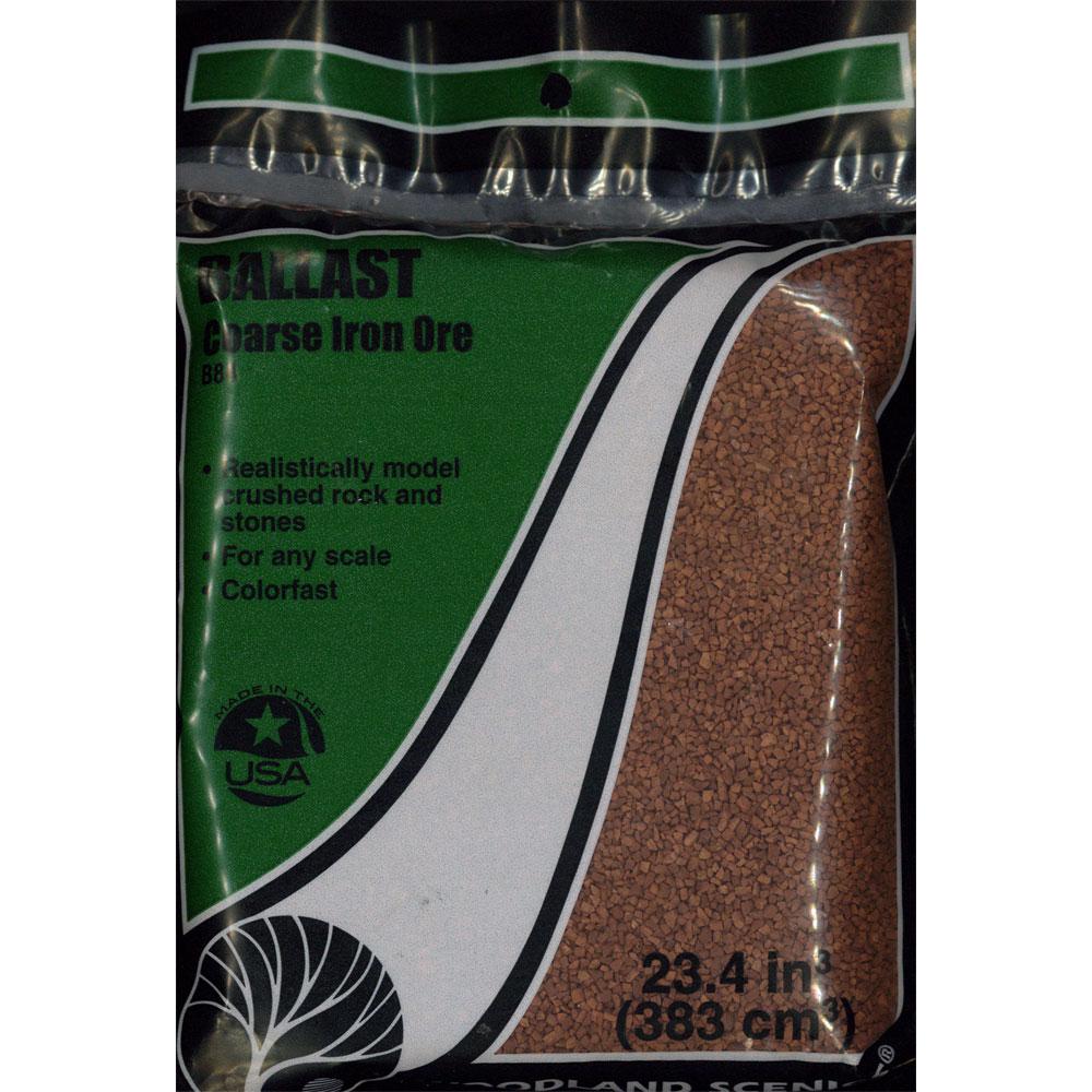 石系素材 バラスト(砂利)粗 錆鉄色 :ウッドランド 素材 ノンスケール B84