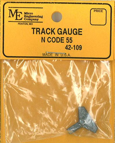 トラック・ゲージ 9mm N コード55番用:マイクロエンジニアリング 鉄道 線路 42-109
