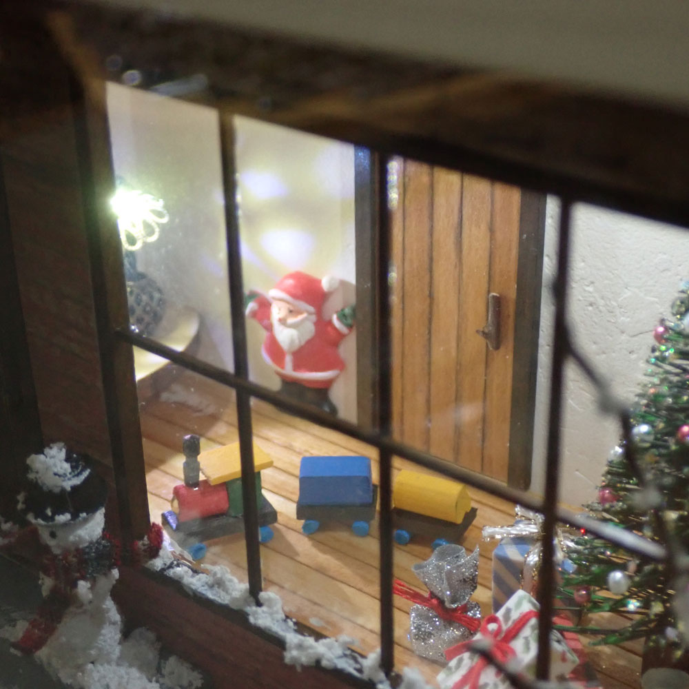 雪のクリスマス「赤い家」 インフレーム :亀田信子 塗装済完成品 ノンスケール