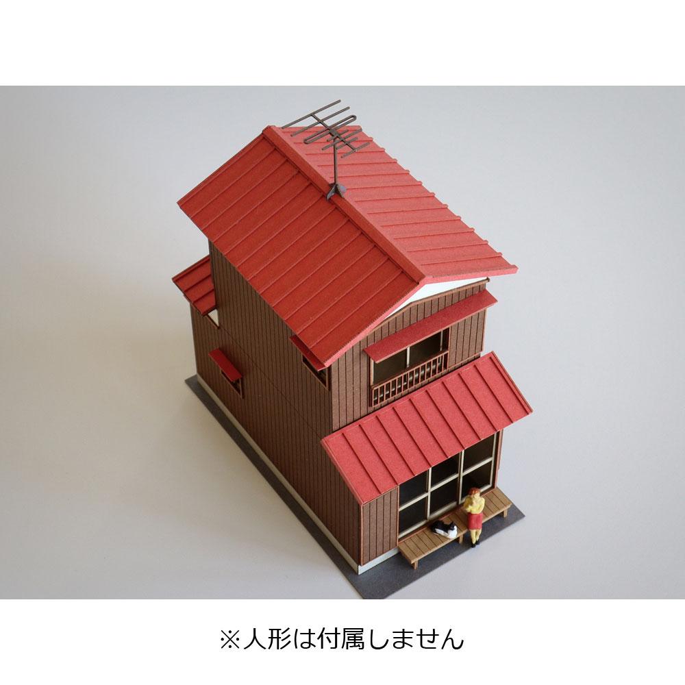 二階建住宅B カラーVer. :梅桜堂 N(1/150) 塗装済みキット ST-011-15C