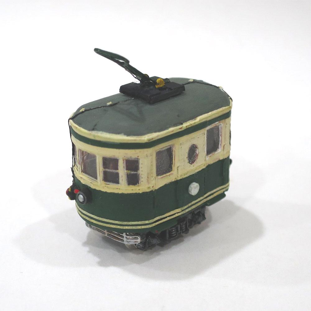 電池内蔵自走式 ミニミニトレイン <緑> ビューゲル仕様 :石川宜明 塗装済完成品 N(1/150)