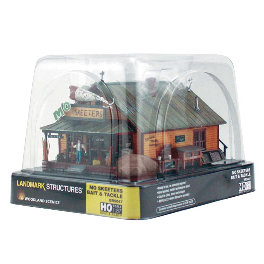モーの釣具店(タックルショップ)【LED付き】 :ウッドランド 塗装済完成品 HO(1/87) 5047