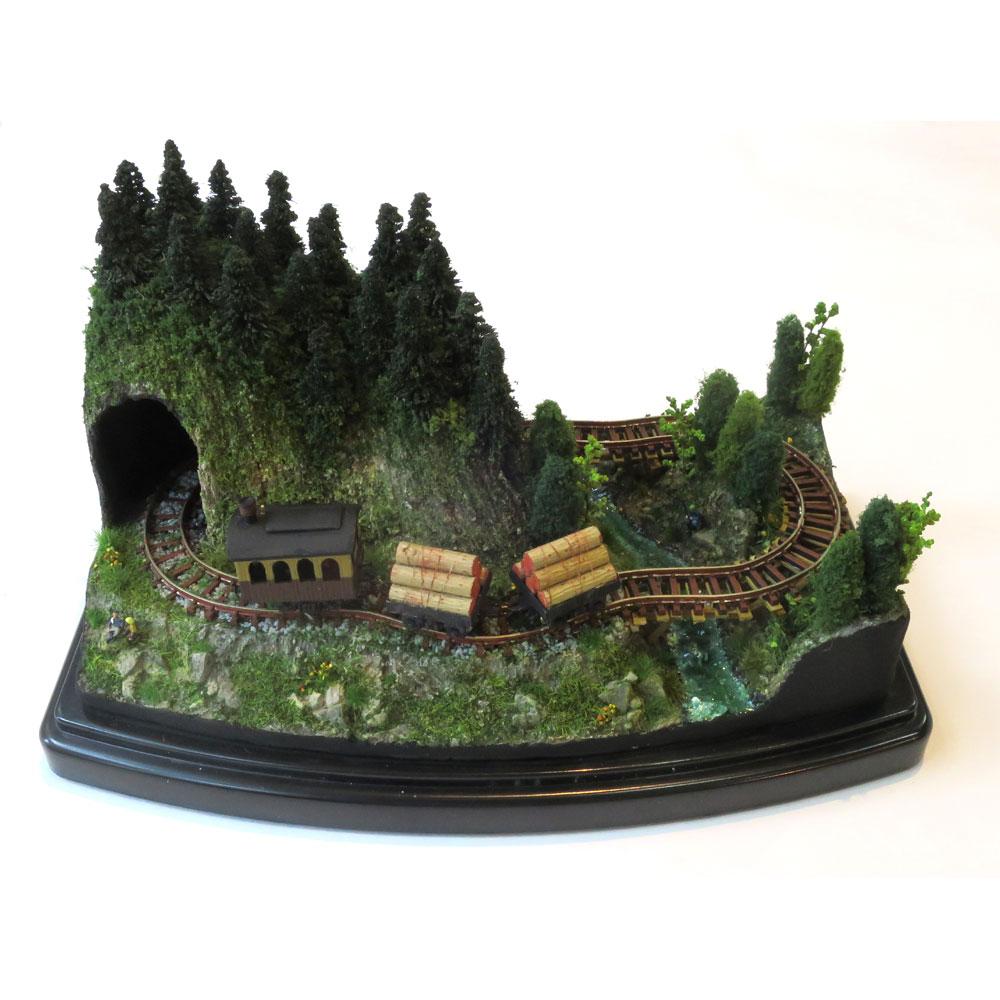 ダイソーケースレイアウト#7 「ミニ森林鉄道」 :石川宜明 塗装済完成品 1/150サイズ