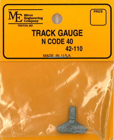 トラック・ゲージ 9mm N コード40番用:マイクロエンジニアリング 鉄道 線路 42-110