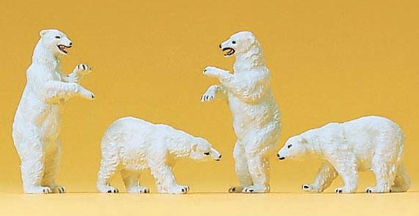 白熊4頭 :プライザー 塗装済完成品 N(1/160) 79716