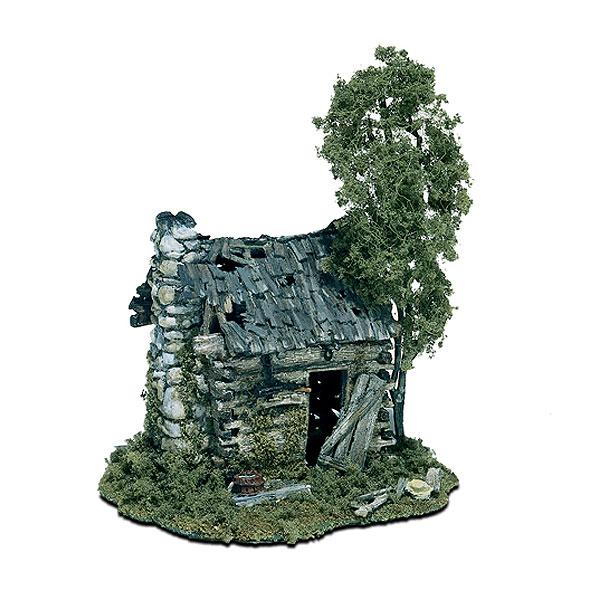 丸太小屋の廃屋 :ウッドランド 未塗装キット HO(1/87) M101