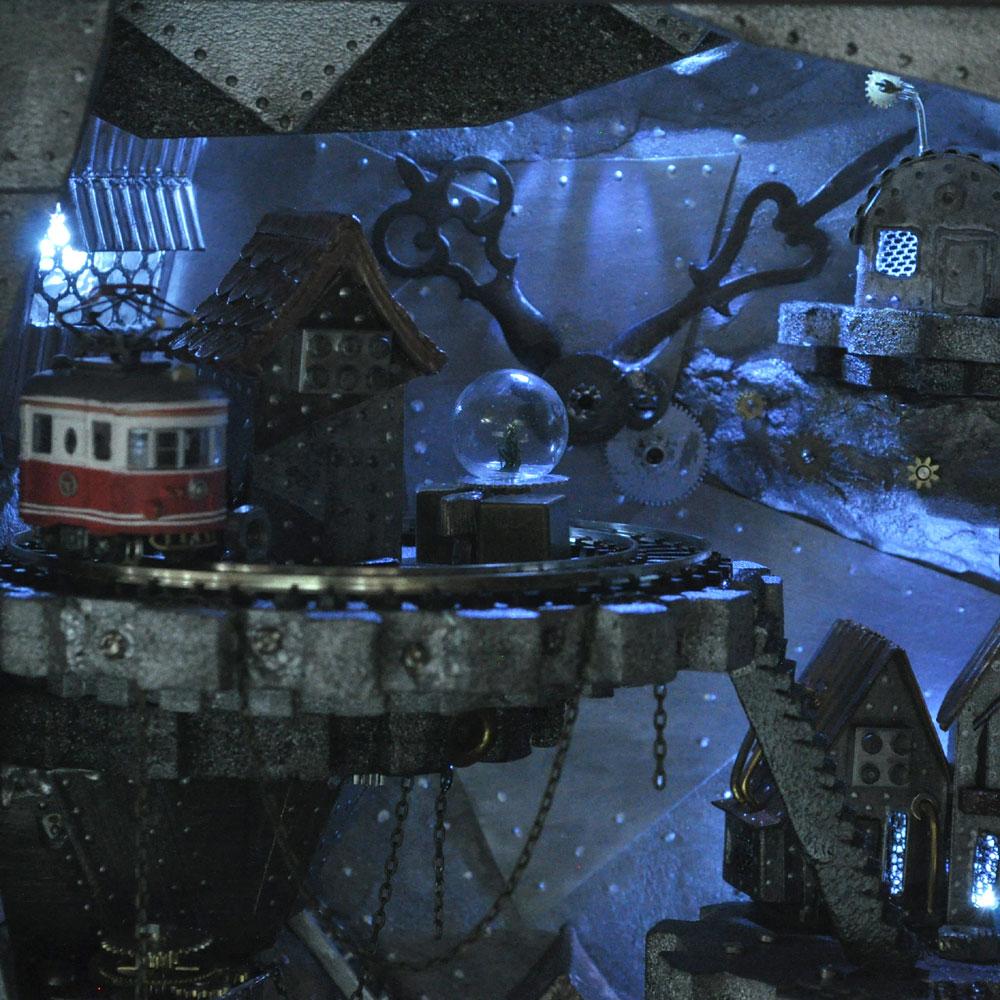 時計の中のスチームパンクタウン :バンビーニ 塗装済完成品 ノンスケール