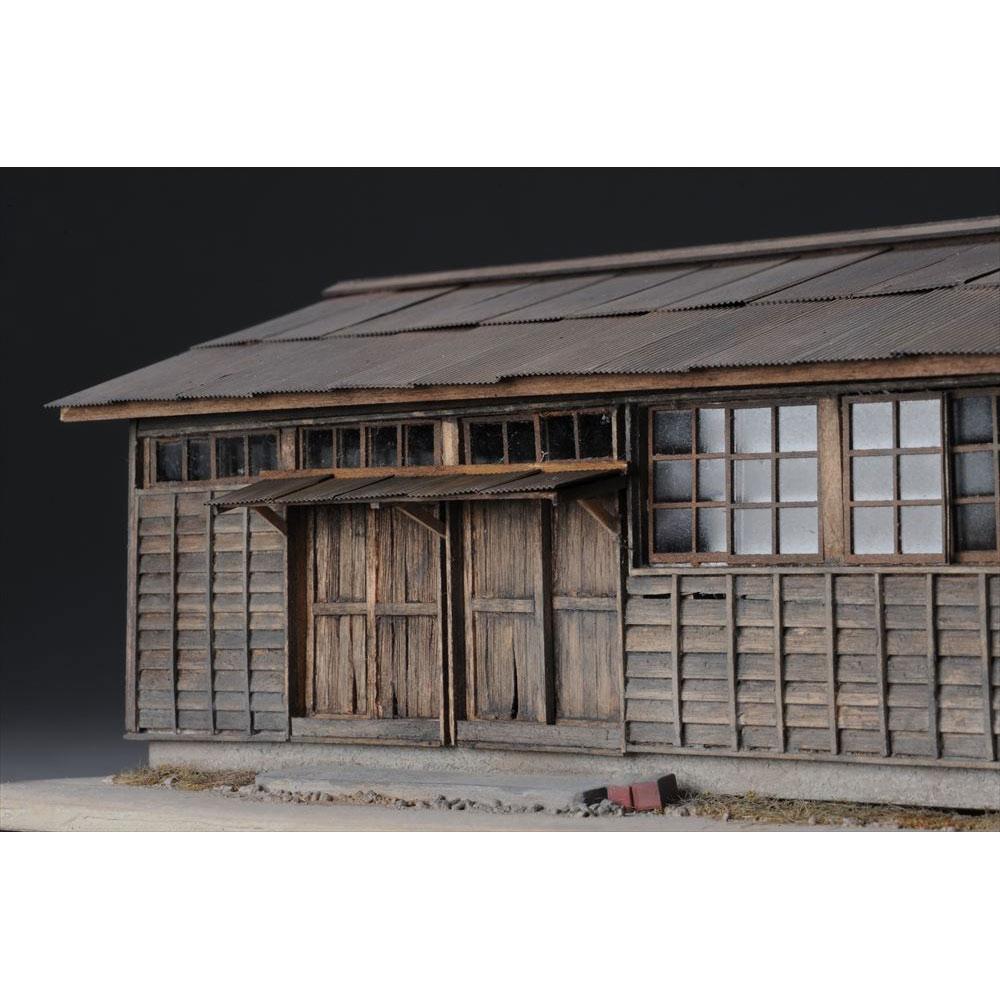 肥薩線人吉駅 構内倉庫 :岡倉禎志 塗装済完成品 1/80