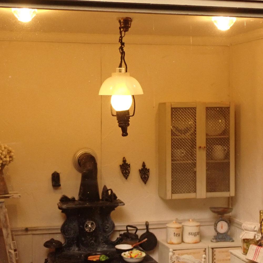 キッチンストーブのある風景 :佐藤千寿子 Sugarhouse 塗装済完成品 1/12スケール