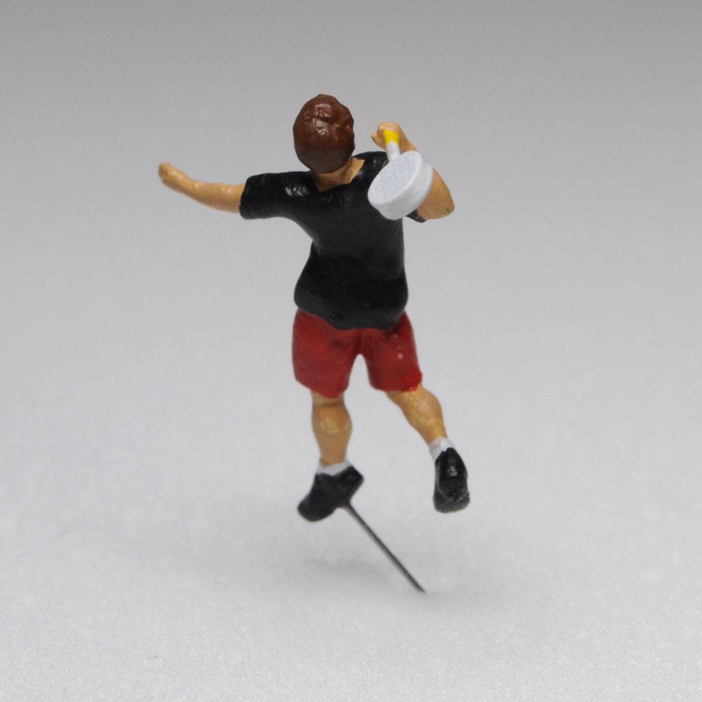 アスリート人形 バドミントン スマッシュA :さかつう 3Dプリント 完成品 HO(1/87) 215