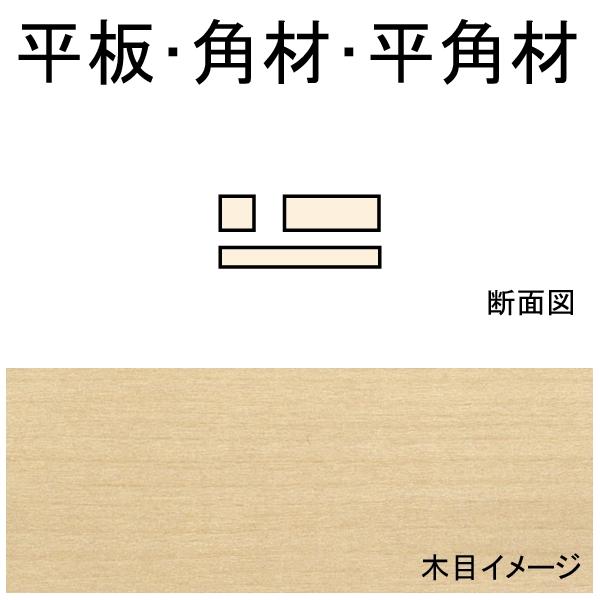平板・角材・平角材 2.4 x 2.4 x 600 mm 10本入り :ノースイースタン 木材 ノンスケール 70215
