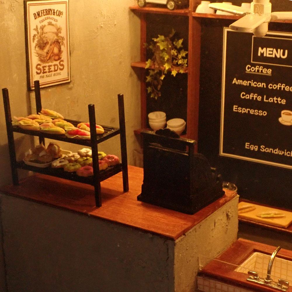 カフェのキッチン :佐藤千寿子 Sugarhouse 塗装済完成品 1/12スケール