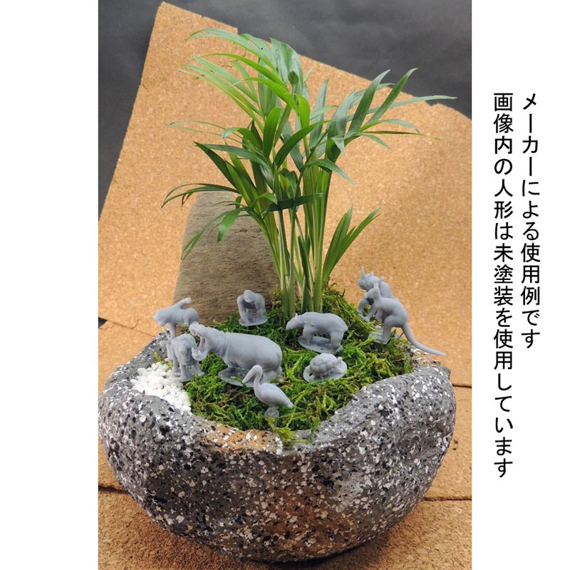 園芸ジオラマ作成用ミニチュア シマウマ :アイコム 塗装済完成品 ノンスケール GM10