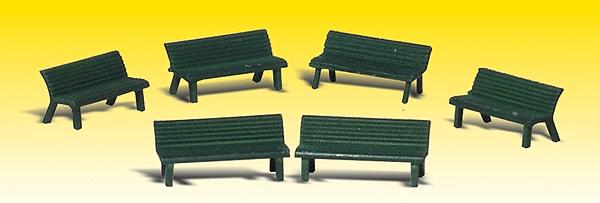 公園のベンチ :ウッドランド 塗装済完成品 N(1/160) 2181