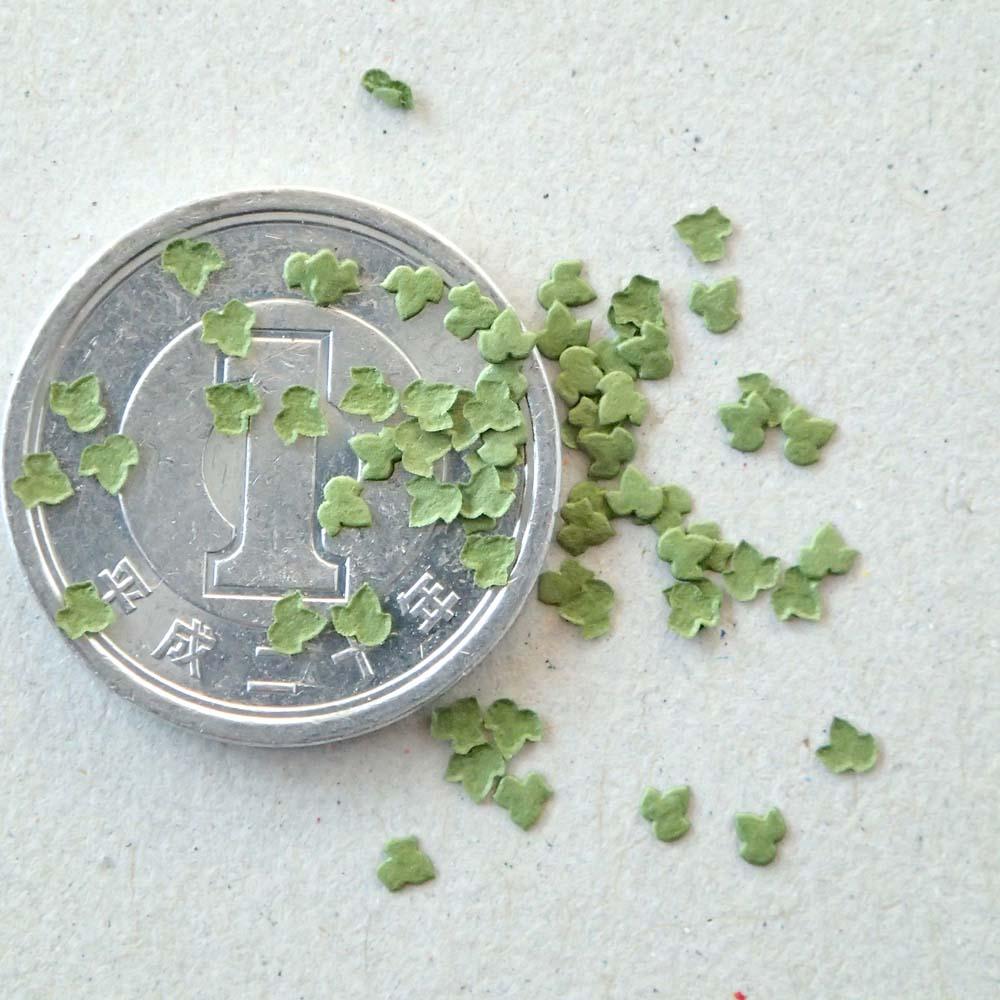 ファインリーフ ツタ型(小) 【薄緑色】 約420枚入り :さかつう 素材 ノンスケール 3502
