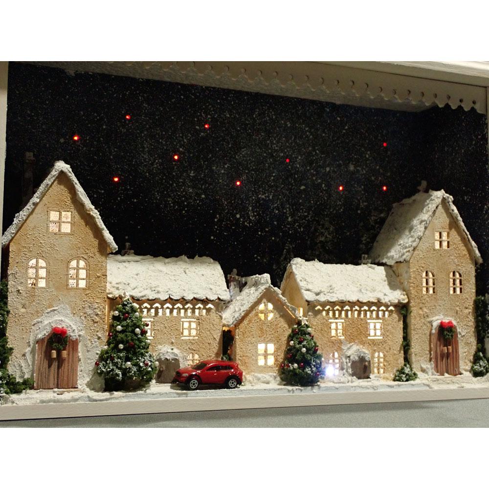 クリスマス 街並み :佐藤千寿子 Sugarhouse 塗装済完成品 ノンスケール