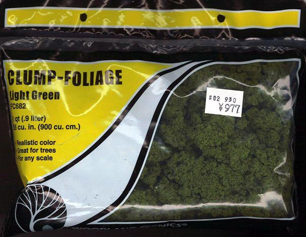 スポンジ系素材 【クランプフォーリッジ】 ライト・グリーン(明緑色) :ウッドランド 素材 ノンスケール FC682