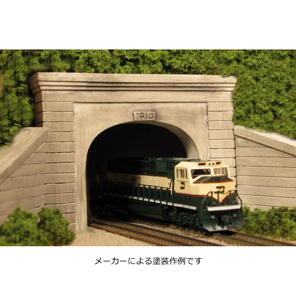 トンネルポータル 複線用 :モンローモデル 未塗装キット N(1/160) 215