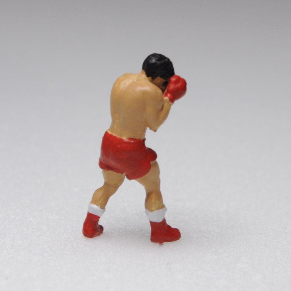 アスリート人形 ボクシング ガードA :さかつう 3Dプリント 完成品 HO(1/87) 219