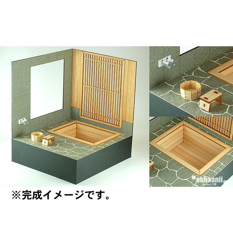 檜の露天風呂 :コバーニ 未塗装キット 1/12スケール WZ-012