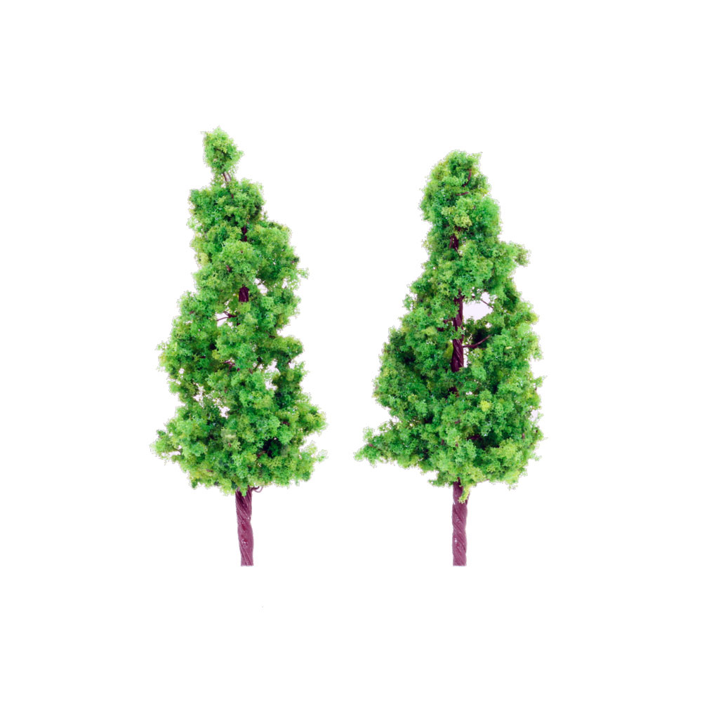 樹木 緑色 90mm 2本入り :ポポプロ 完成品 ノンスケール MT-001