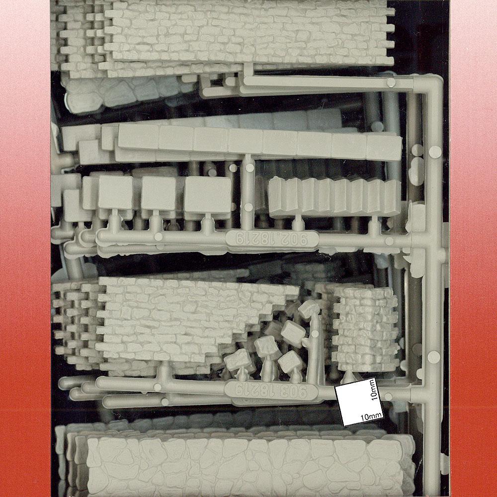石垣と階段 :プライザー 未塗装キット HO(1/87) 18219