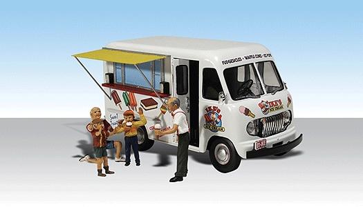 イケのアイスクリーム・トラック :ウッドランド 塗装済完成品 HO(1/87) AS5541