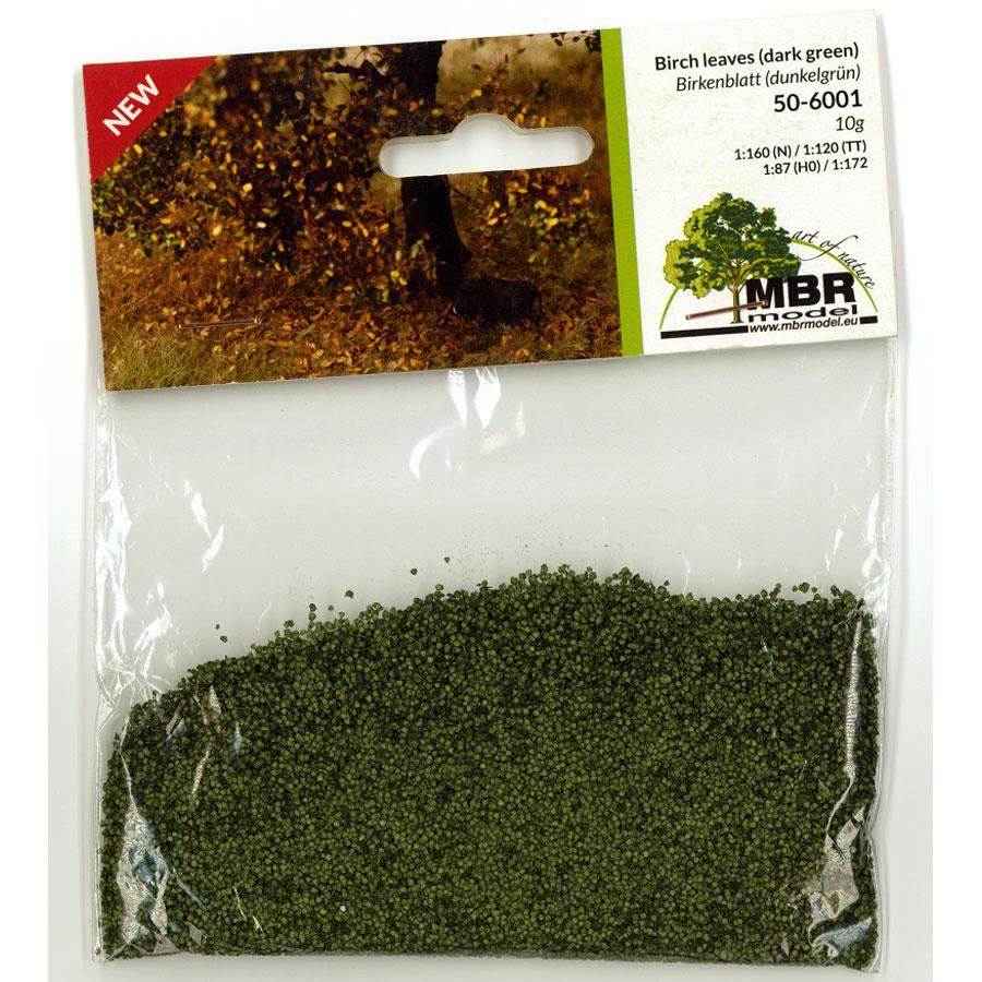 パウダー系素材 白樺の葉(深緑) :MBR 素材 ノンスケール 50-6001
