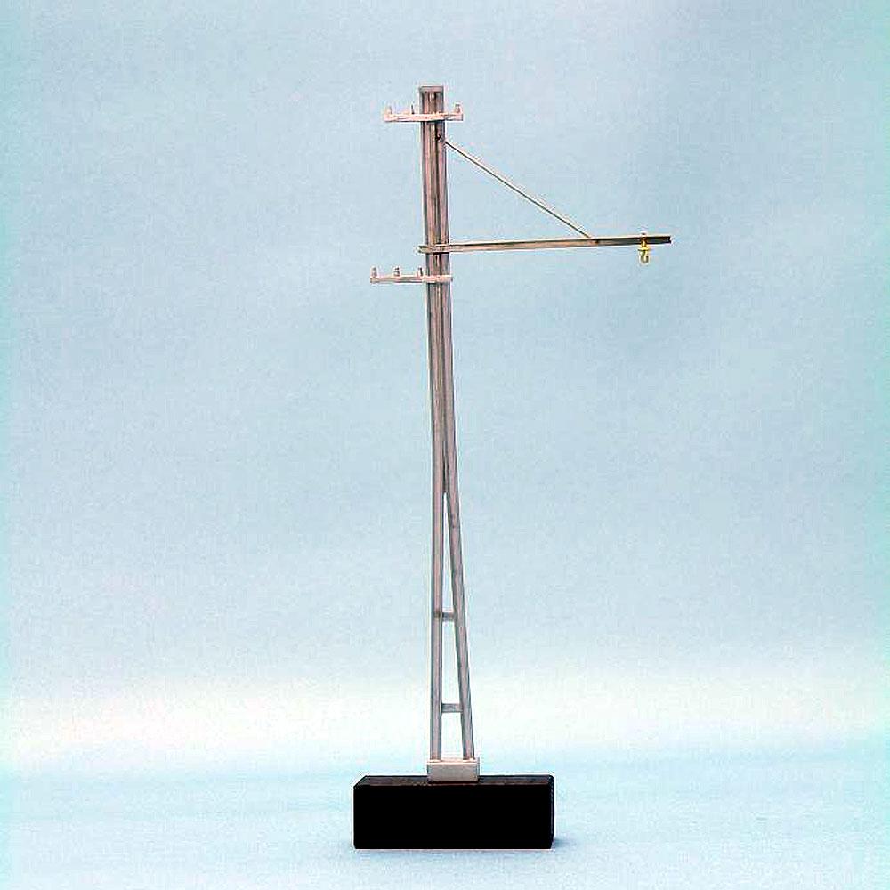 架線柱(片持/レールタイプ) 2組入 :エコーモデル 未塗装キット HO(1/80) 172