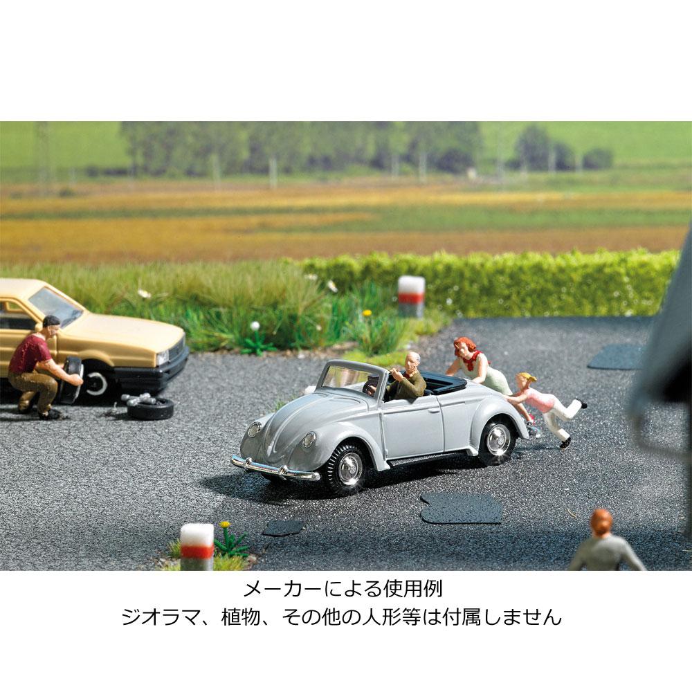 【模型】 VW ビートル 人形付き :ブッシュ 塗装済完成品 HO(1/87) 7823