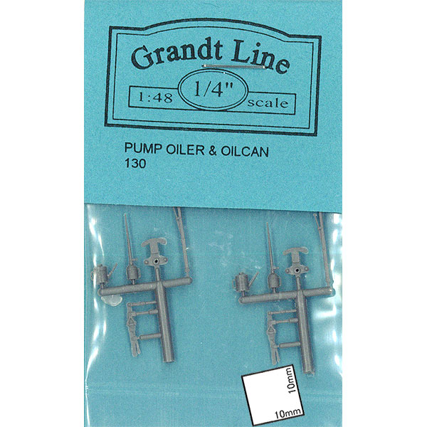 オイルポンプとオイル缶 :グラントライン 未塗装パーツ O(1/48) 130