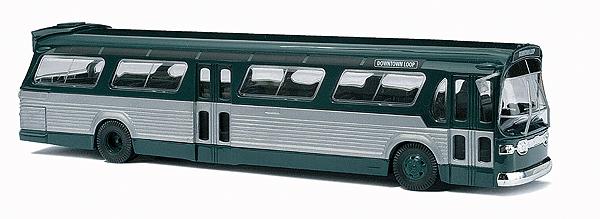 """アメリカンバス GMC TDH-5301 """"Fishbowl"""" GM New Look bus(緑) :ブッシュ 完成品 HO(1/87) 44500"""
