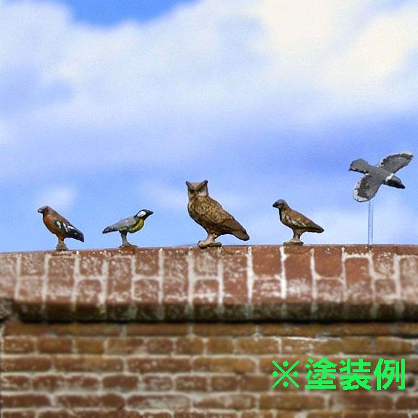 小鳥セット 2 10羽入り :リアリティインスケール 未塗装キット 1/35スケール RIS35258