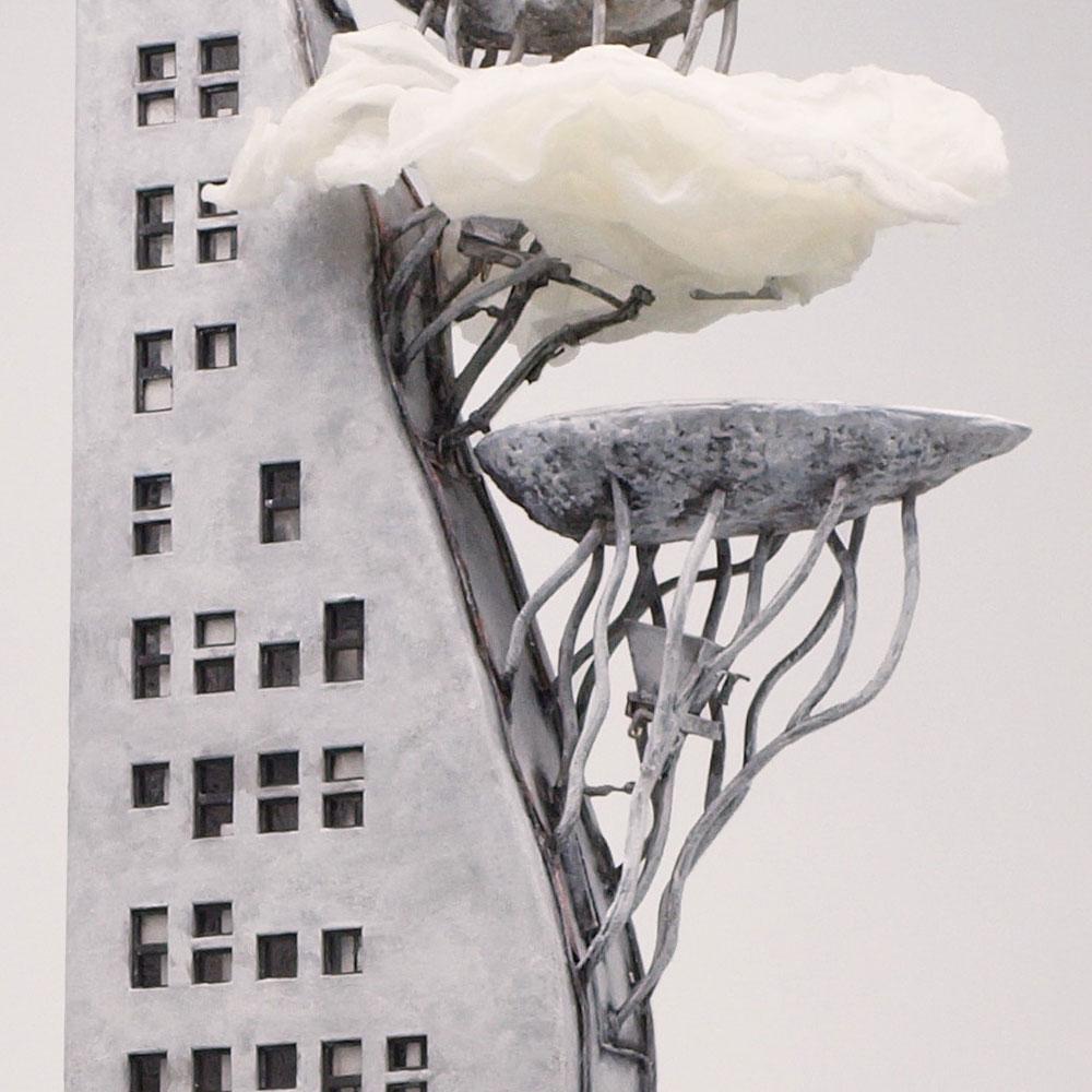 三歩進んで二歩さがった時にひらめく 門 弐號棟(2ごうとう) :山尾比呂士 塗装済完成品 1/150サイズ