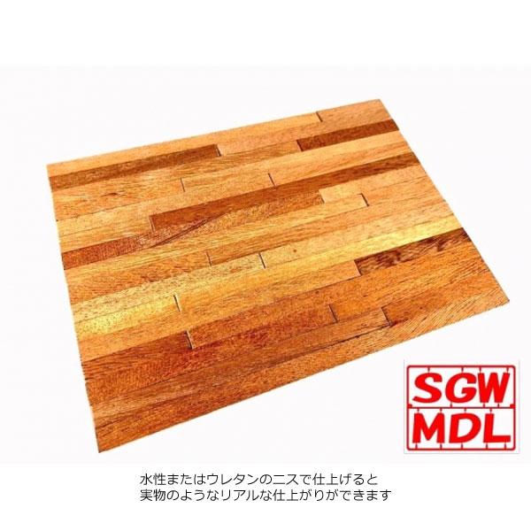 【模型】マホガニーフローリング :ダイオラマワン キット 1/12 9001