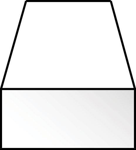 角棒 0.5 x 2.0 x 350 mm :エバーグリーン プラ材 ノンスケール 124