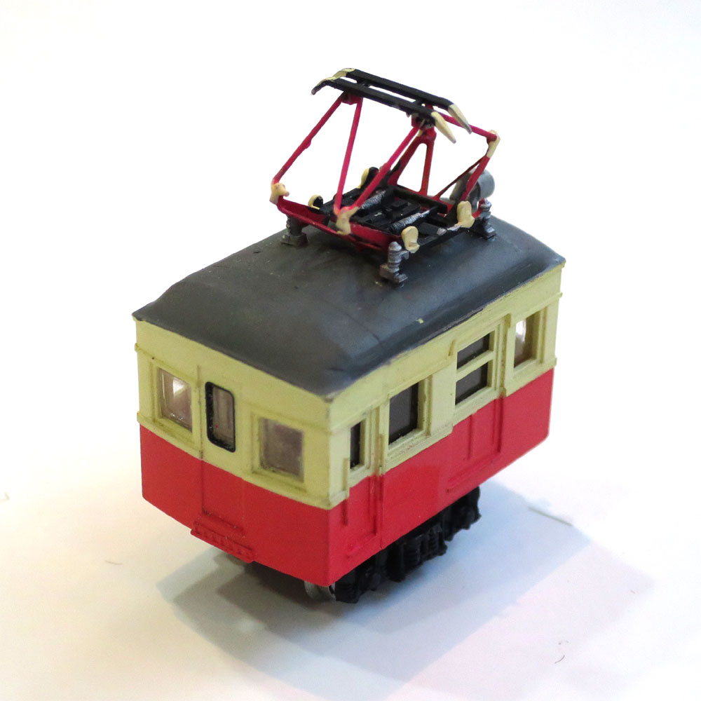 電池内蔵自走式 ミニミニトレイン <琴電2> :石川宜明 塗装済完成品 N(1/150)