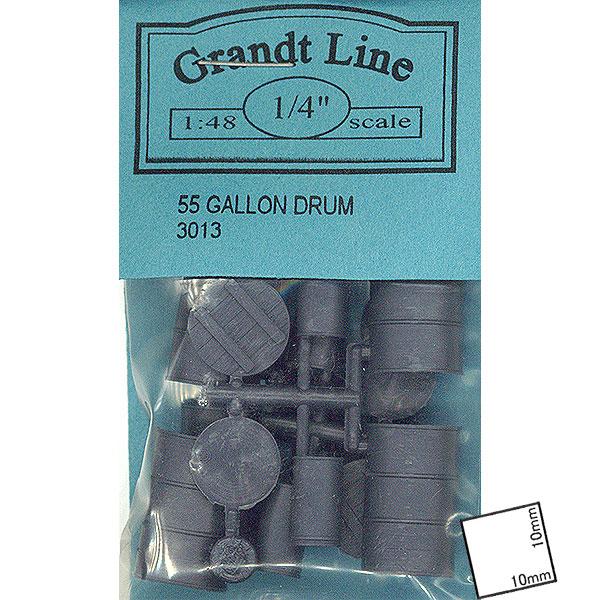 55ガロン ドラム缶とスパイク缶  :グラントライン 未塗装キット O(1/48) 3013