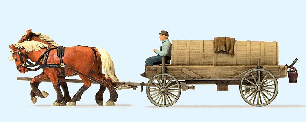 液肥を運ぶ馬車 :プライザー 塗装済完成品 HO(1/87) 30414