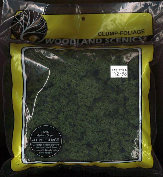 スポンジ系素材 【クランプフォーリッジ】 ミディアム・グリーン(緑) [ラージバッグ] :ウッドランド 素材 ノンスケール FC183